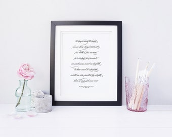Traditional Vows, Wedding Print, Elegant Calligraphy, Bride and Groom Vows, Holiday Gift, Wedding Gift, Anniversary Gift, Wedding Vows