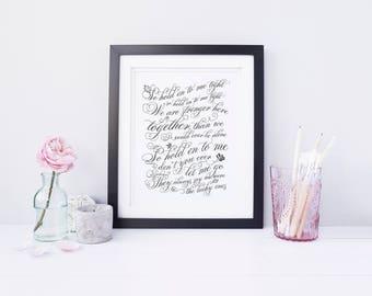 Custom Print, Wedding Song Print, Wedding Gift, Newlywed Gift, Anniversary Gift, Wedding Print, First Dance Song, Typography Print
