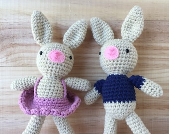 Easter Bunny Couple in Casual Dress