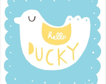 Hello Ducky - Fine Art Print