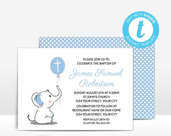 Baptism And First Birthday Invitation Template 1st Joint Etsy