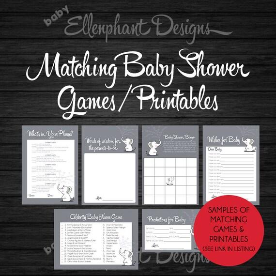 Baby Predications Digital Download Baby Shower Game Downloadable File for Baby Predications Baby Sprinkle Game