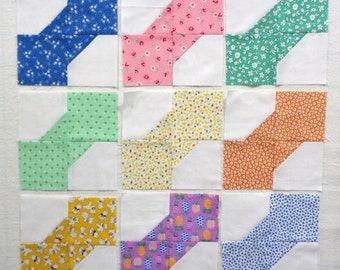 Baby Bowties Pieced Quilt Blocks