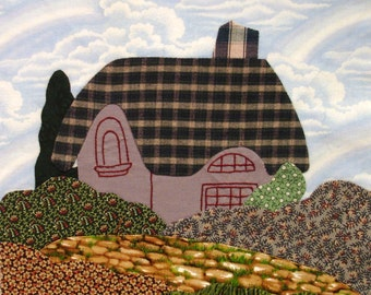 English Cottage Appliqued Quilt Block