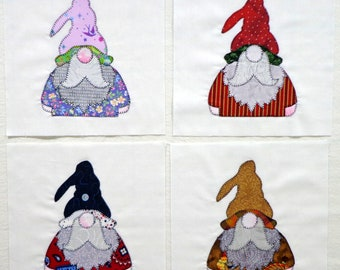 Gnomes for All Seasons Appliqued Quilt Blocks