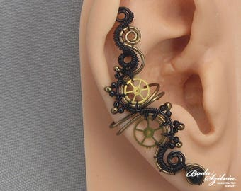 Steampunk Ear Cuff Etsy