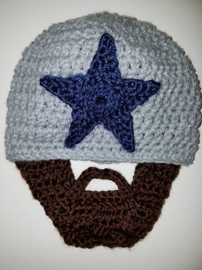 74a894613ce75 Bearded Hat Brown Beard Cowboys Fan Halloween Costume Fake