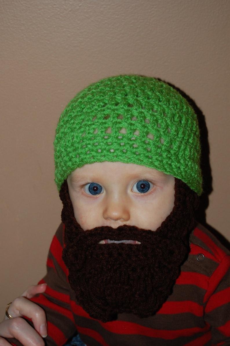 0f7105fa8 Bright Green Baby Beard Beanie, Baby's First Birthday, Baby's First  Christmas, Lumberjack Birthday Party, Baby Shower Gift, Baby Ski Mask