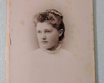 Antique Cabinet Photograph Named Young Woman New York