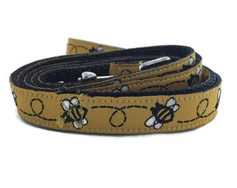 Dog Leash, BumbleBee, 5/8 inch wide, 1 foot, 4 foot, or 6 foot