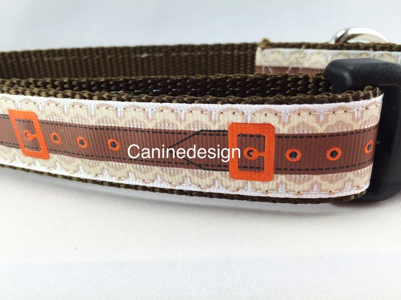Dog Collar Belt 1 inch wide adjustable quick release image 0