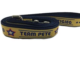Dog Leash, Pete Buttigieg, Mayor Pete, 1 inch wide, 1 foot, 4 foot, or 6 foot