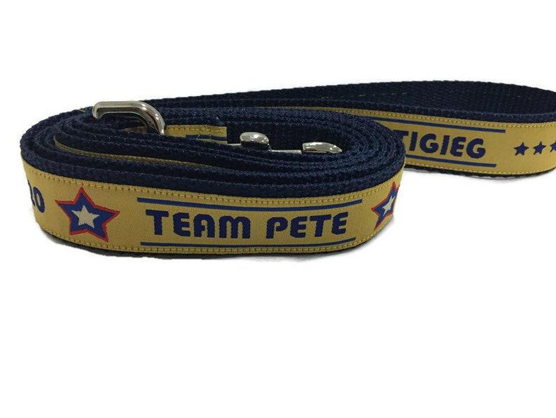 Dog Leash Pete Buttigieg Mayor Pete 1 inch wide 1 foot 4 image 0