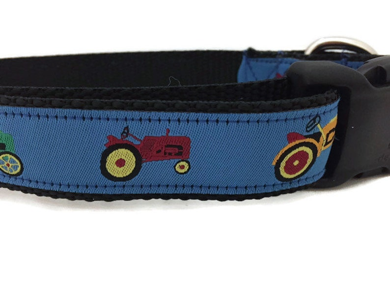 Dog Collar Tractor 1 inch wide adjustable small 11-14 image 0