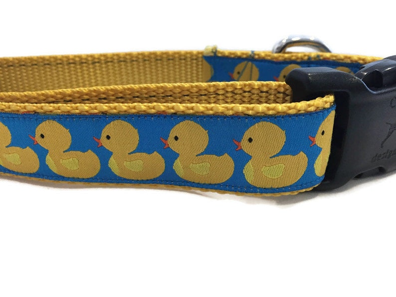 Dog Collar Rubber Duck Dog Collar 1 inch wide adjustable image 0