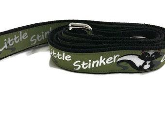 Dog Leash, Skunk, 1 inch wide, 1 foot, 4 foot, or 6 foot