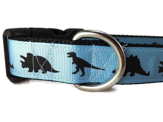 Dinosaur Bone Dog Collar 1 inch or 1.5 inch wide Dino