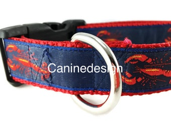 Dog Collar, Lobster, adjustable, 1 inch, medium, 15-22 inches, heavy nylon, quick release buckle