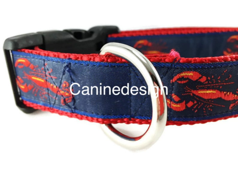 Dog Collar Lobster adjustable 1 inch medium 15-22 inches image 0
