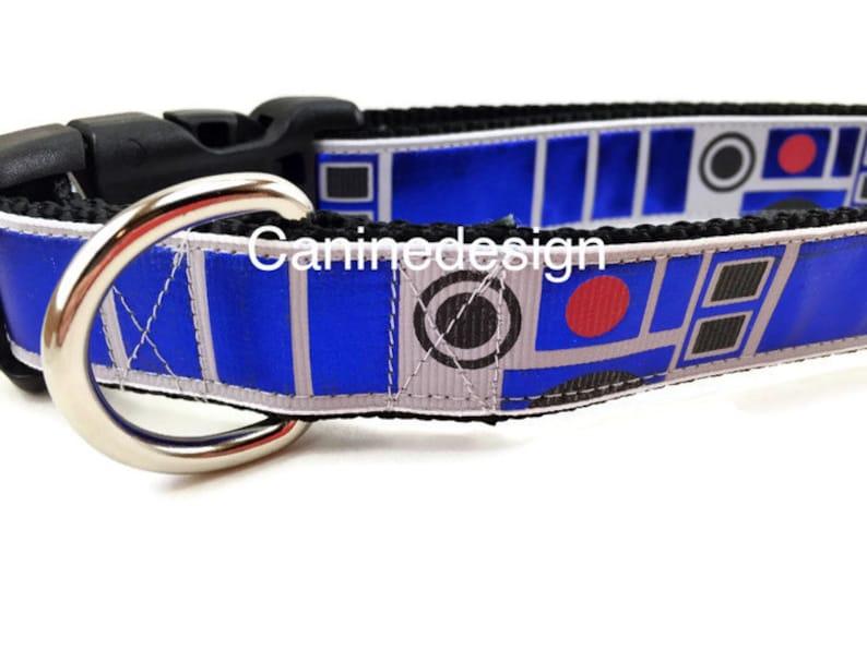 Dog Collar R2D2 Star Wars 1 inch wide adjustable quick image 0