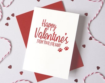 Valentine's Day Furbaby card from Dog Cat – Personalised Valentine's Fur Baby Card – Card for wife husband from pet - dog valentine's card