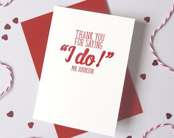 Wedding I Do Typography Card – Personalised Wedding Card – Card for fiancé – wedding card for wife - card for husband to be
