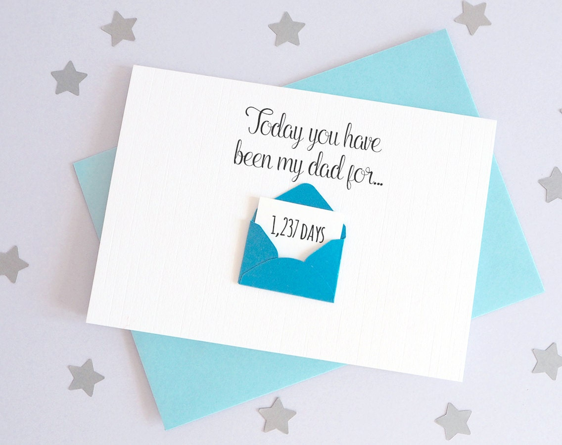 Days Youve Been My Dad Mini Envelope Card Personalised   Etsy