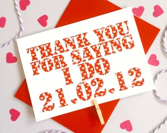 Personalised Thank You For Saying I Do Card