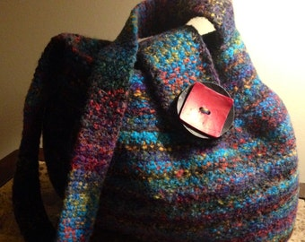SOLD OUT  Handcrochet Wool Felted Handbag