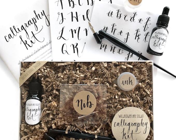 Calligraphy Starter Kit - Award-Winning Beginner Calligraphy Pen Lettering Set • Instruction Book + Supplies • Gift Set