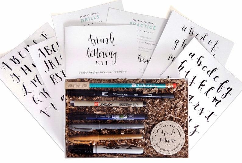 Brush Calligraphy Kit  DIY Hand Lettering Starter Set for image 0