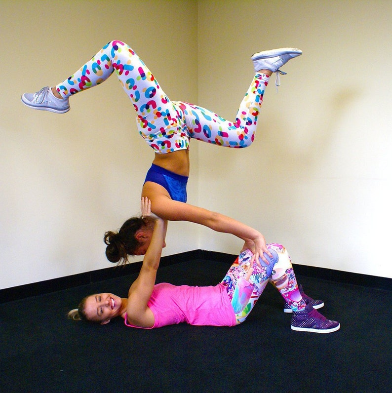 Women/'s Juniors ALPHABET Graphic Letters Yoga Leggings XS-XL