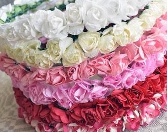 Pinks~ Paper Flower Crown- Choose a Color