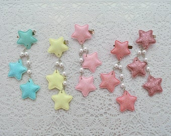 2-Way Pastel Star Clips- Choose your combo