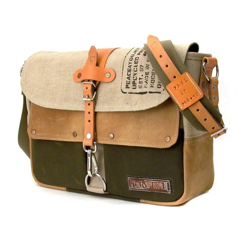 f4819554a8 Canvas Messenger BagBeige Crossbody BagMilitary Surplus