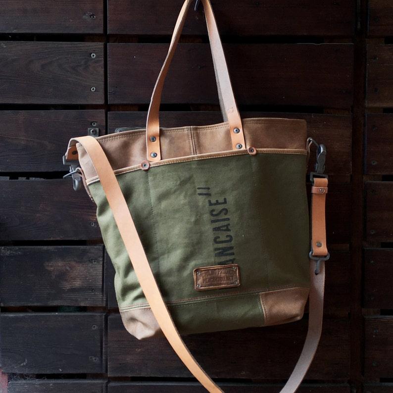 9f6955fd2f Army Canvas Tote Bag Crossbody Tote Unisex Canvas Bag