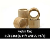Unfinished Wood Napkin Ring Smooth - 1-5 8 outside diameter 1-1 4 inside diameter and 1-1 8 band wooden shape (WW-NR0151)