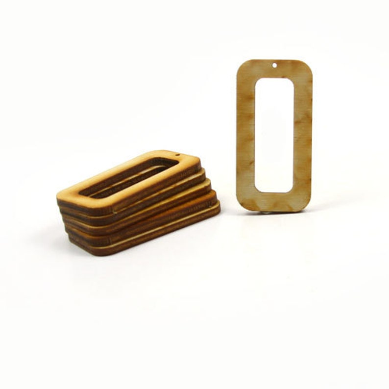 newest a6a16 9def2 Unfinished Wood Rectangle - 2 inches tall by 1 inch wide and 1/8 inch thick  with 1-1/2 x 1/2 cutout and 1 2mm hole wooden shape (RTRD28)