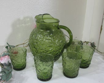 Pitcher Set Milano Lido Ball with set of 5 Tumblers