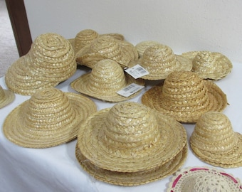 b3346459574 Craft Straw Hats Miscellaneous Size Miniature Doll accessory Set of 14