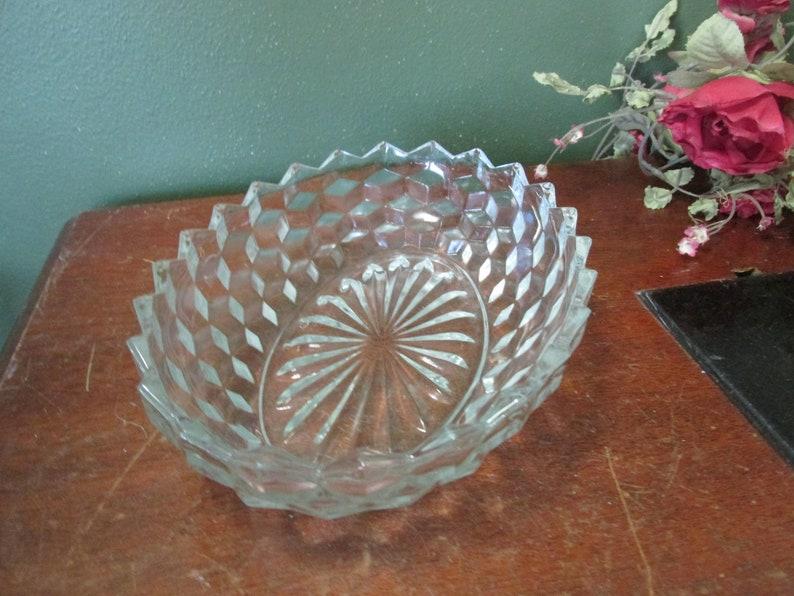 American Fostoria Bowl Vintage Oval Serving Dish