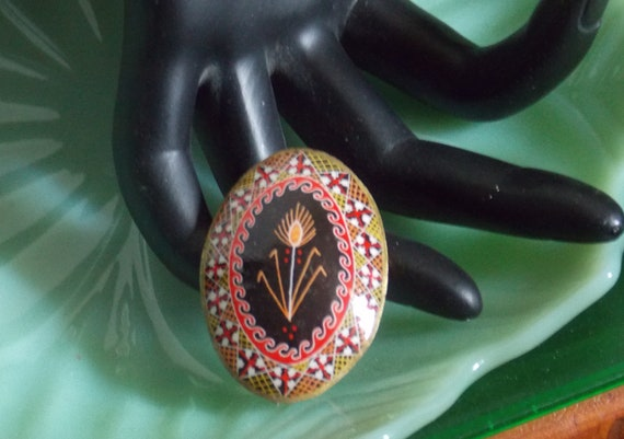 Russian lacquer brooch