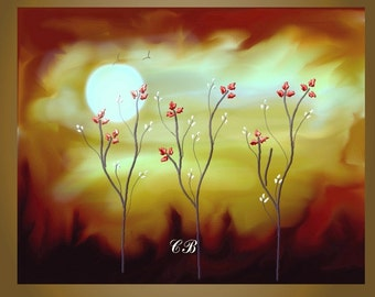 Suppressed Desire- Abstract Landscape Art Print. Free Shipping inside US.