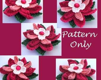 Star Gazer Lily Crochet Flower Pattern PDF