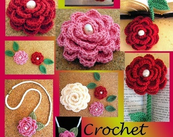 Crochet Rose Flower Pattern Rose Pattern Crochet Cord Flower Patterns Bookmarks Crochet Flower Open Rose Pattern Bookmark Patterns Pdf