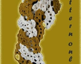 Swirl Fan Scarf Crochet Pattern PDF