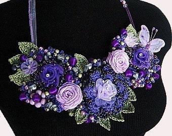 Crochet Statement Bib Necklace Pattern PDF