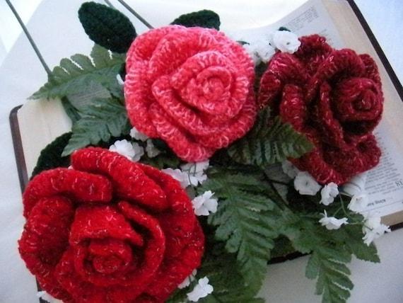 Crochet Rose Flower Pattern Crochet Flowers Crochet Roses | Etsy