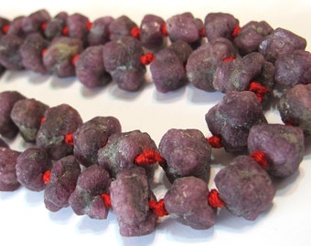 Rough and Rustic Ruby Nuggets 10 5x11 to 13x9mm