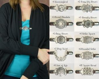 6b232bbb13a178 READY TO SHIP: Metal Cinch Belt - Ladies Dress Clip for Women - Silver